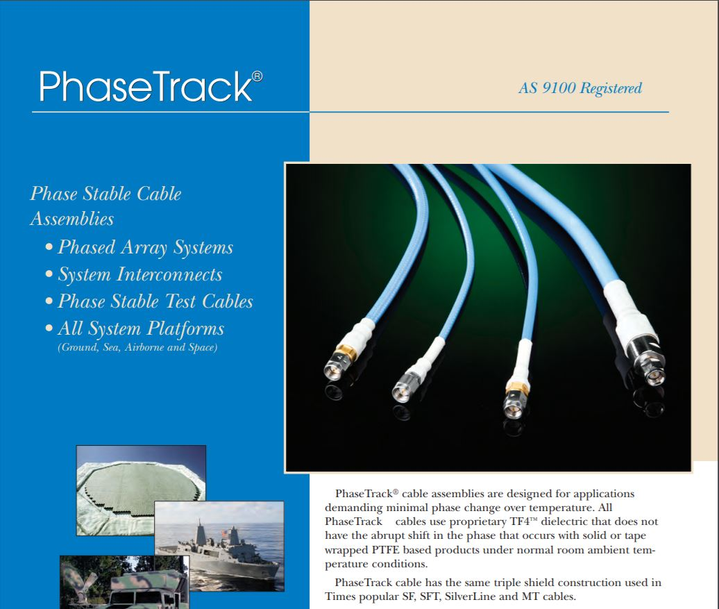 Phase Track Cable Assemblies Low Smoke Pflex