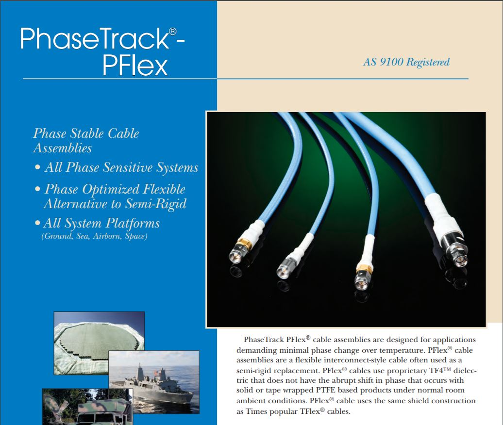 PHASETRACK PFLEX CABLE ASSEMBLIES