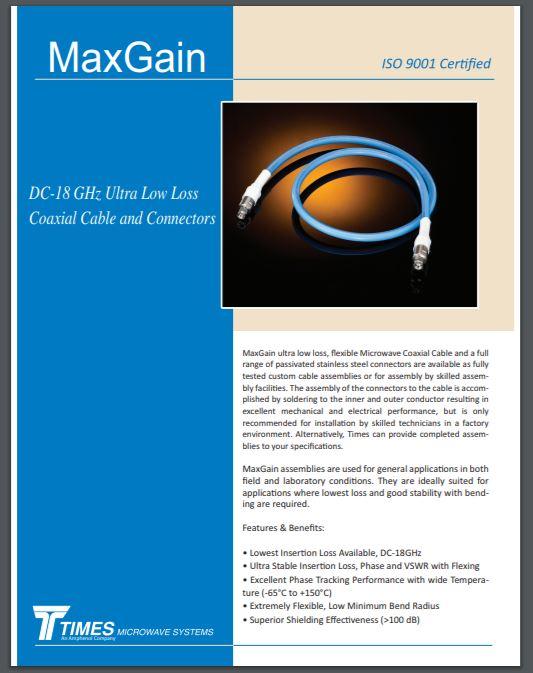 MaxGain Cable Assembly